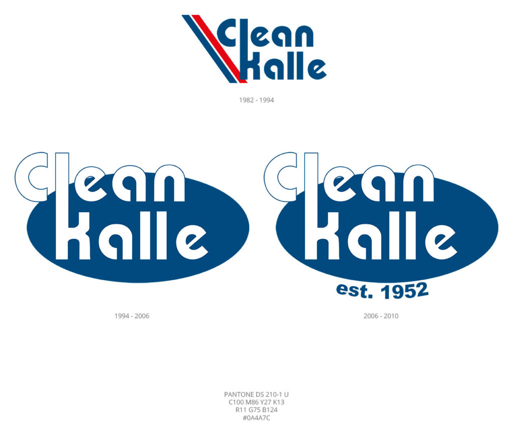 Aktualisierung von Design des Logos im Jahr 1994 und 2006 | Clean Kalle, Finnland