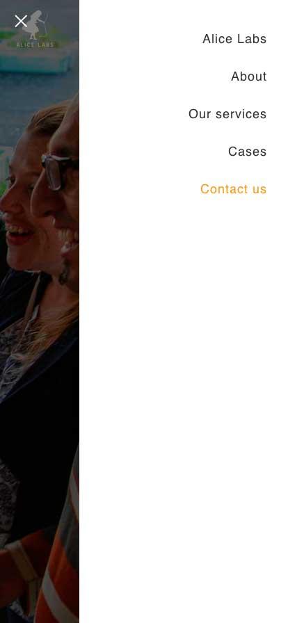 Mobilversion av basic webbsida | Alice Labs oy, Finland